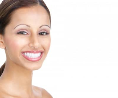 A woman with clear braces