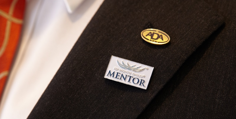 Six Month Smiles Mentor pin