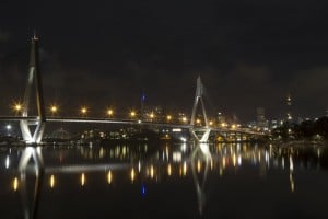 A night view in Sydney